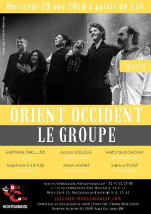 Orient Occident Le Groupe au Jazz Café Montparnasse