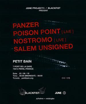 POISON POINT x NOSTROMO x SALEM UNSIGNED x PANZER / Club Petit Bain