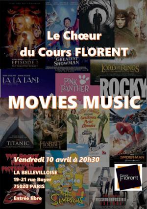LE CHŒUR DU COURS FLORENT : MOVIES MUSIC