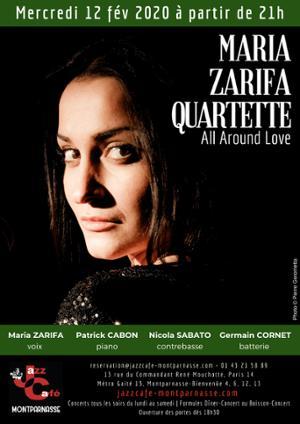 Maria Zarifa Quartette au Jazz Café Montparnasse
