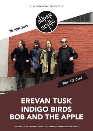 Erevan Tusk • Indigo Birds • Bob and the Apple / Supersonic