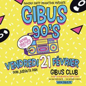 GIBUS 90's I Spécial Madonna X Tour I Free sur liste ce vendredi