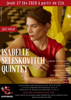 Isabelle Seleskovitch Quintet au Jazz Café Montparnasse