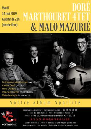 Doré Marthouret 4tet  & Malo Mazurié au Jazz Café Montparnasse