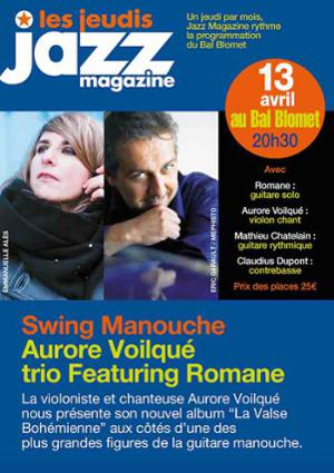 SWING MANOUCHE – Aurore VOILQUÉ Trio – Les Jeudis JAZZ MAGAZINE