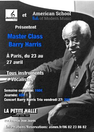 Barry Harris Workshop a Paris !