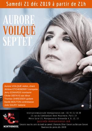 Aurore Voilqué 7tet au Jazz Café Montparnasse