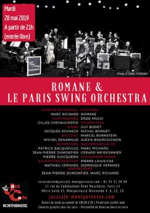 Romane & le Paris Swing Orchestra au Jazz Café Montparnasse