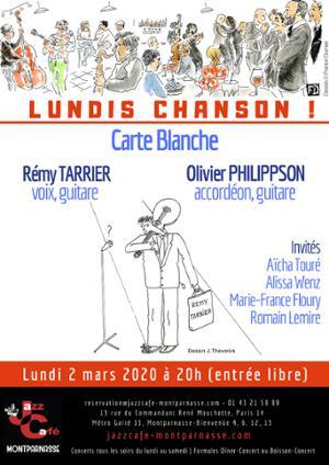 Lundis Chanson ! Carte blanche à Rémy Tarrier & Olivier Philippson au Jazz Café Montparnasse