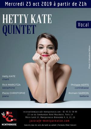 Hetty Kate 5tet au Jazz Café Montparnasse