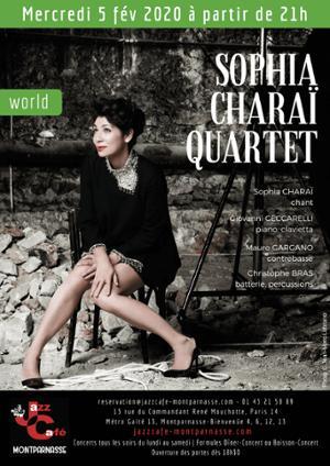 Sophia Charaï Quartet au Jazz Café Montparnasse