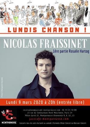 Lundis Chanson ! Nicolas Fraissinet au Jazz Café Montparnasse