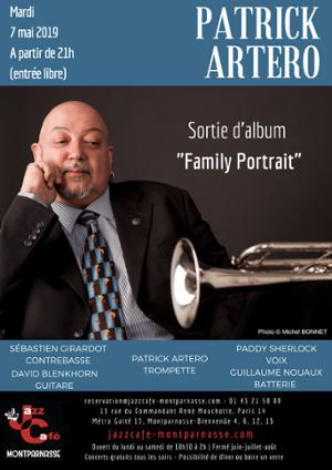 Patrick Artero, sortie d'album Family Portrait au Jazz Café Montparnasse
