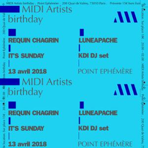 Midi artists birthday w/ Requin Chagrin + Guest