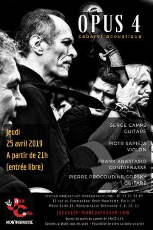 Opus 4 au Jazz Café Montparnasse