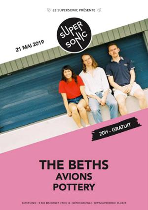 The Beths • Avions • Pottery / Supersonic (Free entry)