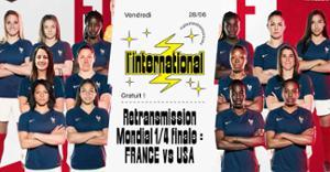Retransmission France / USA sur écran géant + clim à l'Inter !