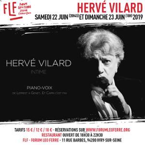 Hervé Vilard au FLF - Forum Léo Ferré