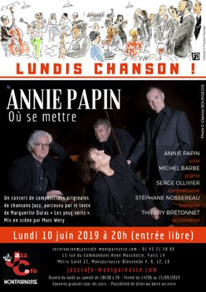 Lundis Chanson ! Annie Papin,