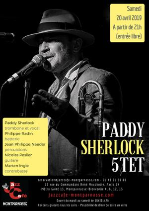 Paddy Sherlock Quintet au Jazz Café Montparnasse