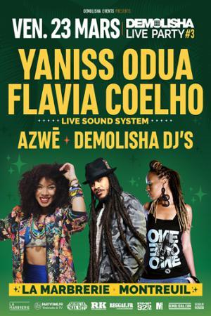 Demolisha Live Party #3 : Yaniss Odua, Flavia Coelho (live), Azwè, Demolisha Dj's