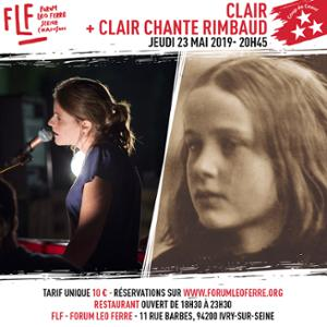 CLAIR + CLAIR chante Rimbaud au FLF - Forum Léo Ferré