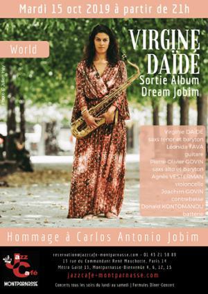 Virginie Daïdé, Hommage à Carlos Antonio Jobim au Jazz Café Montparnasse