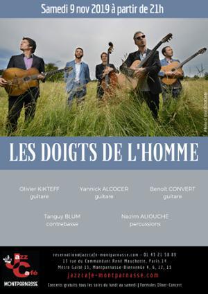 Les Doigts de L'Homme au Jazz Café Montparnasse