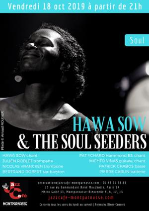 Hawa Sow and the Soul Seeders au Jazz Café Montparnasse