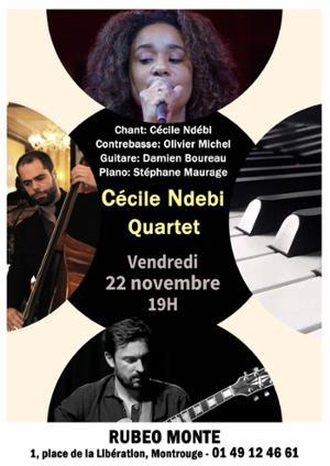 Soirée Jazz au son de la délicieuse voix de Cécile Ndebi