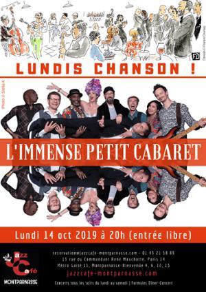 Lundis Chanson ! L'Immense Petit Cabaret au Jazz Café Montparnasse