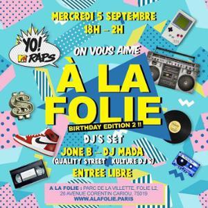 On VOUS AIME À La Folie - Birthday Edition 2