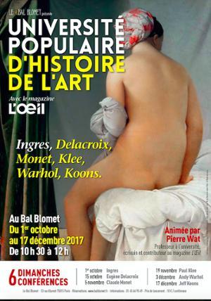 UNIVERSITE POPULAIRE D'HISTOIRE DE L'ART - JEFF KOONS