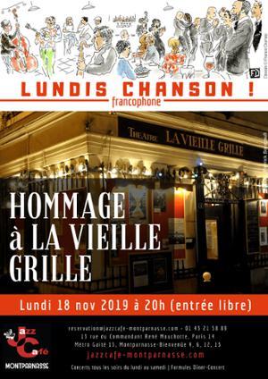 Lundis Chanson ! Hommage à La Vieille Grille #1 au Jazz Café Montparnasse