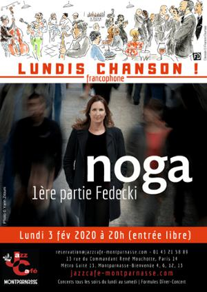 Lundis Chanson ! Noga au Jazz Café Montparnasse