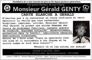 Concert : Carte Blanche à Gérald Genty