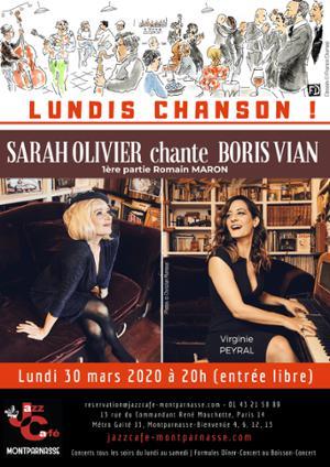 Lundis Chanson ! Sarah Olivier chante Boris Vian au Jazz Café Montparnasse