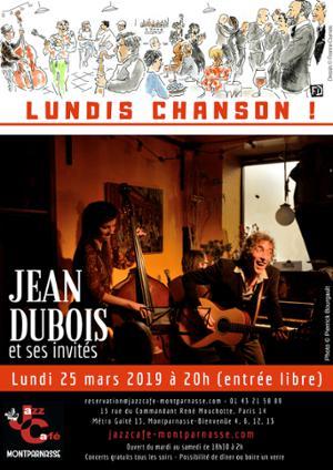 Lundis Chanson ! Jean Dubois & ses invités au Jazz Café