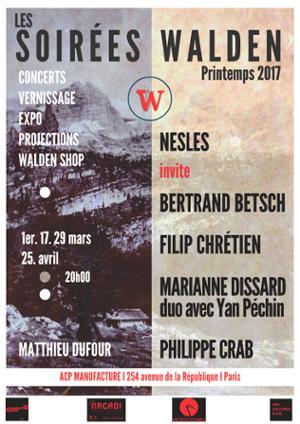 SOIRÉES WALDEN : Nesles + Marianne Dissard (duo avec Yan Péchin)