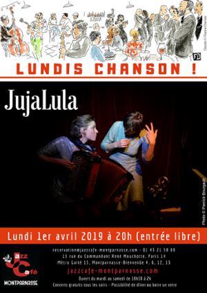 Lundis Chanson ! JujaLula au Jazz Café Montparnasse