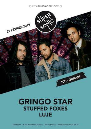 Gringo Star • Stuffed Foxes • Luje / Supersonic (Free entry)