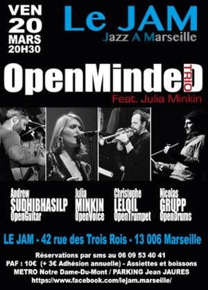 Christophe LeLoil OpenMindeD Trio Feat Julia Minkin