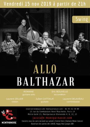 Allo Balthazar au Jazz Café Montparnasse