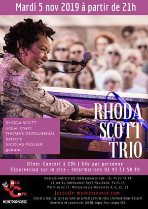 Rhoda Scott Trio au Jazz Café Montparnasse
