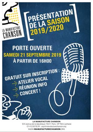 Porte Ouverte + Concert de présentation de la Saison 2019/2020