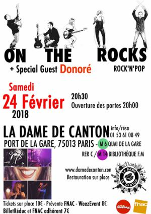 ON THE ROCKS + Special Guest Donoré