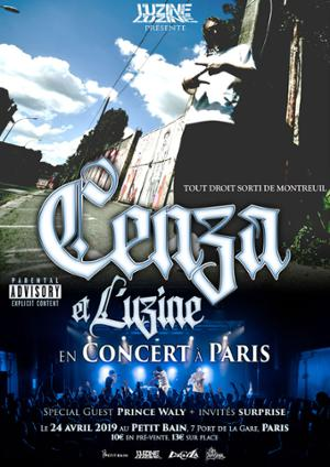 CENZA Release Party w/ L'UZINE & PRINCE WALY + SPECIAL GUEST