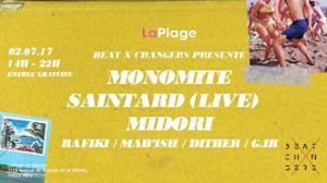 Beat X Changers à la Plage w / Monomite, Saintard (live), Midori