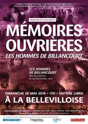 BELLEVILLE-MENILMONTANT EN IMAGES : MEMOIRES OUVRIERES, LES HOMMES DE BILLANCOURT