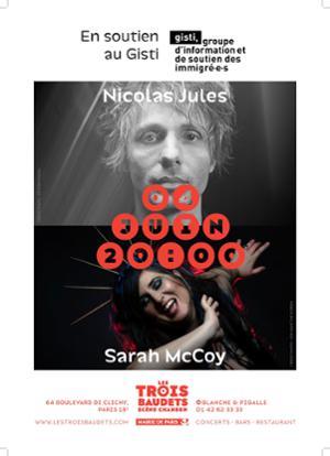 Sarah McCoy et Nicolas Jules, concert en soutien au Gisti
